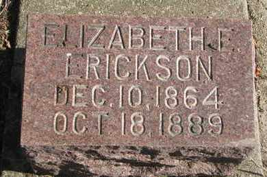 ERICKSON, ELIZABETH E. - Union County, South Dakota | ELIZABETH E. ERICKSON - South Dakota Gravestone Photos
