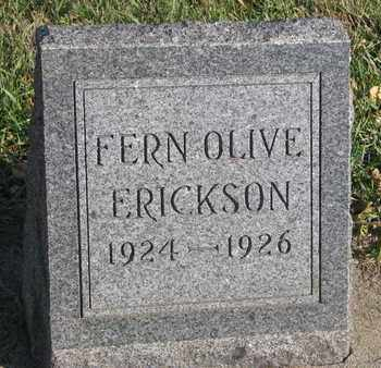 ERICKSON, FERN OLIVE - Union County, South Dakota   FERN OLIVE ERICKSON - South Dakota Gravestone Photos