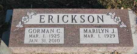 ERICKSON, GORMAN C. - Union County, South Dakota | GORMAN C. ERICKSON - South Dakota Gravestone Photos
