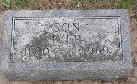 ERICKSON, IVER - Union County, South Dakota   IVER ERICKSON - South Dakota Gravestone Photos