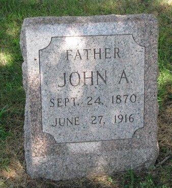 ERICKSON, JOHN A. - Union County, South Dakota | JOHN A. ERICKSON - South Dakota Gravestone Photos