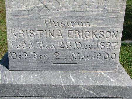 ERICKSON, KRISTINA (CLOSE UP) - Union County, South Dakota   KRISTINA (CLOSE UP) ERICKSON - South Dakota Gravestone Photos