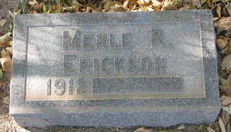 ERICKSON, MERLE R. - Union County, South Dakota | MERLE R. ERICKSON - South Dakota Gravestone Photos