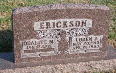 ERICKSON, LOREN J. - Union County, South Dakota | LOREN J. ERICKSON - South Dakota Gravestone Photos