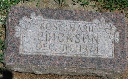 ERICKSON, ROSE MARIE - Union County, South Dakota | ROSE MARIE ERICKSON - South Dakota Gravestone Photos