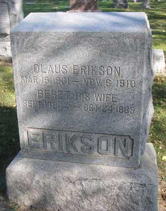 ERIKSON, BERET - Union County, South Dakota | BERET ERIKSON - South Dakota Gravestone Photos