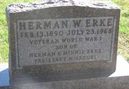 ERKE, HERMAN W. (WORLD WAR I) - Union County, South Dakota   HERMAN W. (WORLD WAR I) ERKE - South Dakota Gravestone Photos
