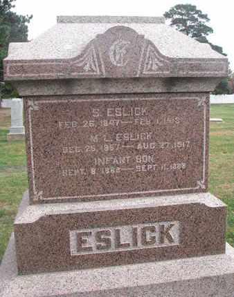 ESLICK, S. - Union County, South Dakota | S. ESLICK - South Dakota Gravestone Photos