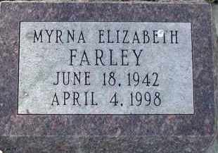 FARLEY, MYRNA ELIZABETH - Union County, South Dakota | MYRNA ELIZABETH FARLEY - South Dakota Gravestone Photos