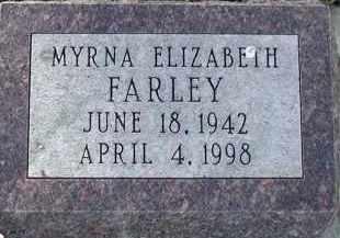 HASS FARLEY, MYRNA ELIZABETH - Union County, South Dakota | MYRNA ELIZABETH HASS FARLEY - South Dakota Gravestone Photos