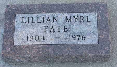 FATE, LILLIAN MYRL - Union County, South Dakota   LILLIAN MYRL FATE - South Dakota Gravestone Photos