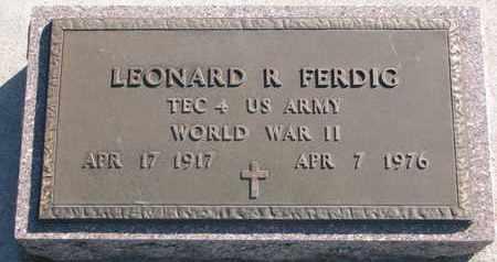 FERDIG, LEONARD R. - Union County, South Dakota | LEONARD R. FERDIG - South Dakota Gravestone Photos