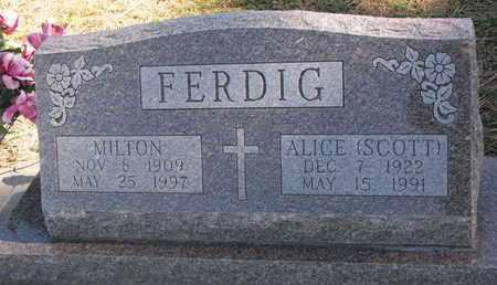 SCOTT FERDIG, ALICE - Union County, South Dakota | ALICE SCOTT FERDIG - South Dakota Gravestone Photos