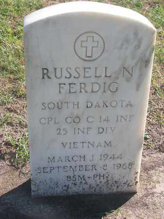 FERDIG, RUSSELL N. - Union County, South Dakota | RUSSELL N. FERDIG - South Dakota Gravestone Photos