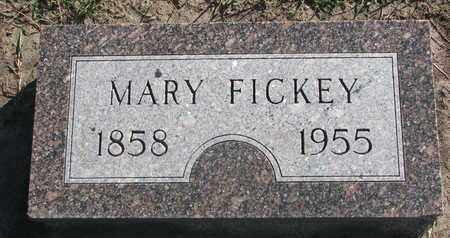 FICKEY, MARY - Union County, South Dakota | MARY FICKEY - South Dakota Gravestone Photos