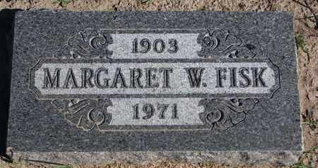 FISK, MARGARET W. - Union County, South Dakota   MARGARET W. FISK - South Dakota Gravestone Photos