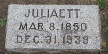 FLANAGAN, JULIAETT - Union County, South Dakota | JULIAETT FLANAGAN - South Dakota Gravestone Photos