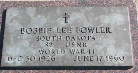 FOWLER, BOBBIE LEE (WORLD WAR II) - Union County, South Dakota   BOBBIE LEE (WORLD WAR II) FOWLER - South Dakota Gravestone Photos