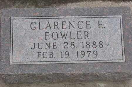 FOWLER, CLARENCE E. - Union County, South Dakota   CLARENCE E. FOWLER - South Dakota Gravestone Photos