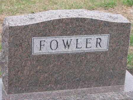 FOWLER, FAMILY STONE - Union County, South Dakota | FAMILY STONE FOWLER - South Dakota Gravestone Photos