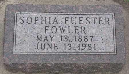 FOWLER, SOPHIA - Union County, South Dakota | SOPHIA FOWLER - South Dakota Gravestone Photos