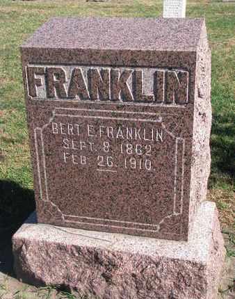 FRANKLIN, BERT E. - Union County, South Dakota | BERT E. FRANKLIN - South Dakota Gravestone Photos