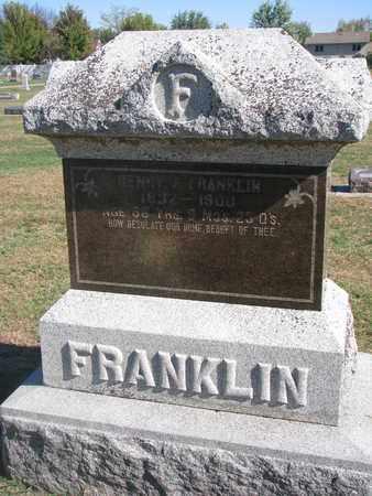 FRANKLIN, HENRY J. - Union County, South Dakota | HENRY J. FRANKLIN - South Dakota Gravestone Photos