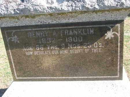 FRANKLIN, HENRY A. (CLOSEUP) - Union County, South Dakota | HENRY A. (CLOSEUP) FRANKLIN - South Dakota Gravestone Photos