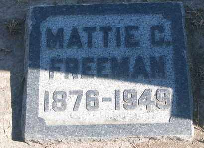 FREEMAN, MATTIE C. - Union County, South Dakota | MATTIE C. FREEMAN - South Dakota Gravestone Photos