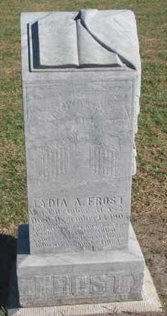 FROST, LYDIA A. - Union County, South Dakota   LYDIA A. FROST - South Dakota Gravestone Photos