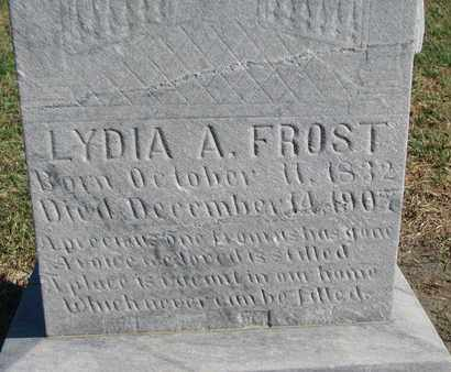 FROST, LYDIA A. (CLOSEUP) - Union County, South Dakota | LYDIA A. (CLOSEUP) FROST - South Dakota Gravestone Photos