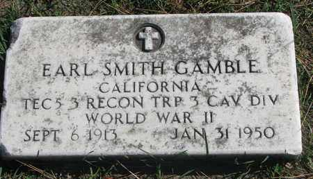 GAMBLE, EARL SMITH (WORLD WAR II) - Union County, South Dakota | EARL SMITH (WORLD WAR II) GAMBLE - South Dakota Gravestone Photos