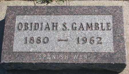 GAMBLE, OBIDIAH S. (SPANISH WAR) - Union County, South Dakota | OBIDIAH S. (SPANISH WAR) GAMBLE - South Dakota Gravestone Photos