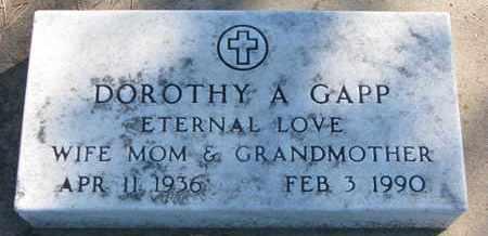 GAPP, DOROTHY A. - Union County, South Dakota   DOROTHY A. GAPP - South Dakota Gravestone Photos