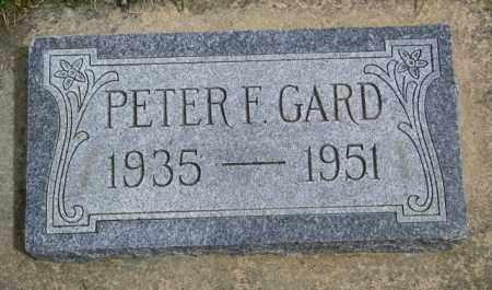 GARD, PETER F. - Union County, South Dakota | PETER F. GARD - South Dakota Gravestone Photos