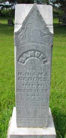 GEDDES, SAMUEL - Union County, South Dakota | SAMUEL GEDDES - South Dakota Gravestone Photos