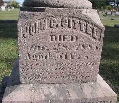 GITTEL, JOHN C. (CLOSEUP) - Union County, South Dakota | JOHN C. (CLOSEUP) GITTEL - South Dakota Gravestone Photos