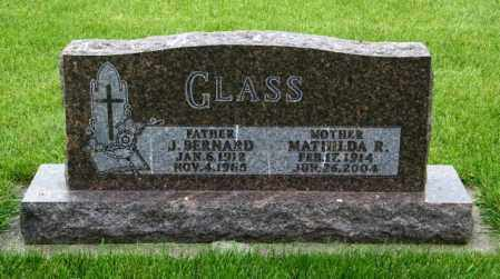 GLASS, J. BERNARD - Union County, South Dakota | J. BERNARD GLASS - South Dakota Gravestone Photos