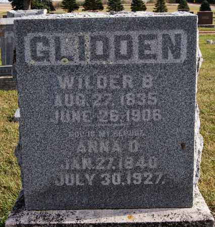 GLIDDEN, ANNA D - Union County, South Dakota | ANNA D GLIDDEN - South Dakota Gravestone Photos
