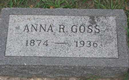 GOSS, ANNA R. - Union County, South Dakota | ANNA R. GOSS - South Dakota Gravestone Photos