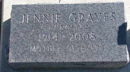 LIVINGSTON GRAVES, JENNIE - Union County, South Dakota | JENNIE LIVINGSTON GRAVES - South Dakota Gravestone Photos