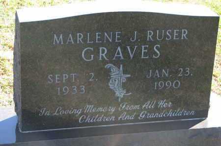 GRAVES, MARLENE J. - Union County, South Dakota   MARLENE J. GRAVES - South Dakota Gravestone Photos