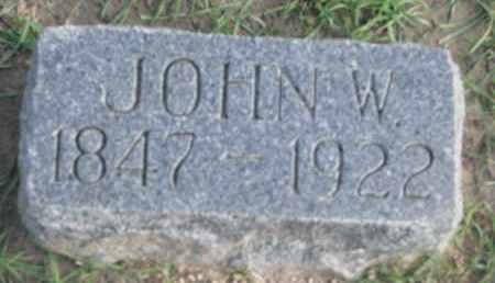 GRAY, JOHN W. - Union County, South Dakota   JOHN W. GRAY - South Dakota Gravestone Photos