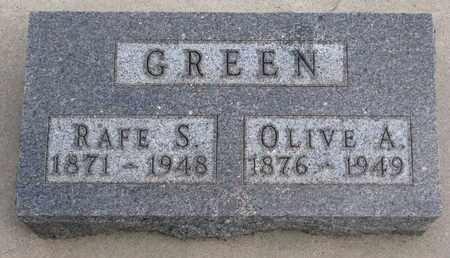 GREEN, OLIVE A. - Union County, South Dakota | OLIVE A. GREEN - South Dakota Gravestone Photos