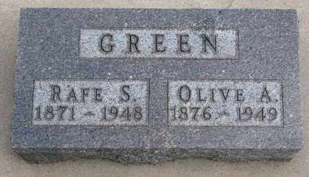 GREEN, RAFE S. - Union County, South Dakota | RAFE S. GREEN - South Dakota Gravestone Photos