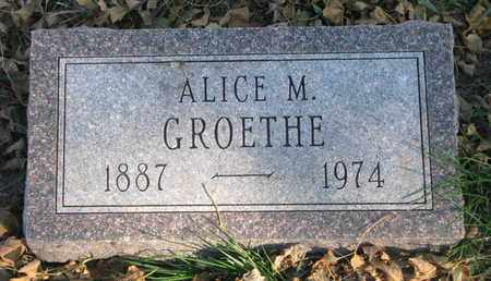GROETHE, ALICE M. - Union County, South Dakota | ALICE M. GROETHE - South Dakota Gravestone Photos