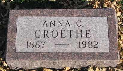 GROETHE, ANNA C. - Union County, South Dakota   ANNA C. GROETHE - South Dakota Gravestone Photos