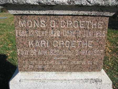 GROETHE, MONS O. (CLOSEUP) - Union County, South Dakota | MONS O. (CLOSEUP) GROETHE - South Dakota Gravestone Photos