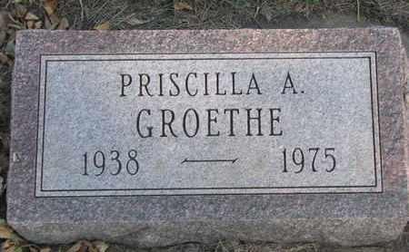 GROETHE, PRISCILLA A. - Union County, South Dakota   PRISCILLA A. GROETHE - South Dakota Gravestone Photos