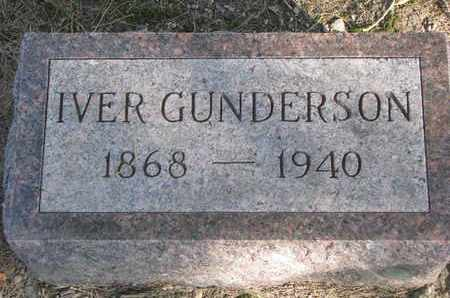 GUNDERSON, IVER - Union County, South Dakota | IVER GUNDERSON - South Dakota Gravestone Photos